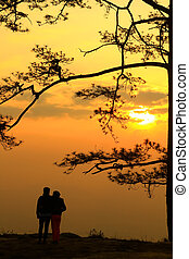 couple see the sunrise