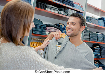 couple shopping at the week end