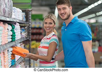 Couple Shopping Trolley