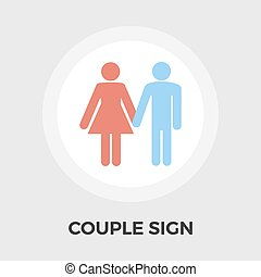 Couple sign Vector Flat Icon