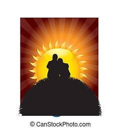 couple, silhouette