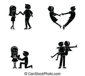 couple, silhouette