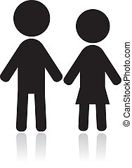 couple, silhouettes