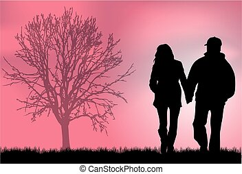 Couple Silhouettes