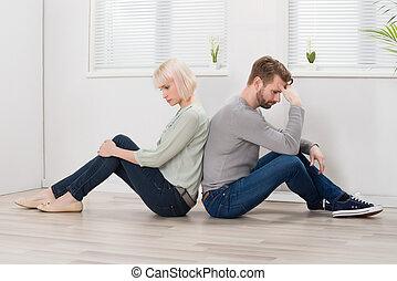 couple, s'installer, plancher