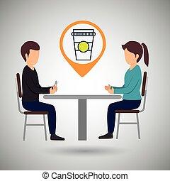 couple sitting dinner
