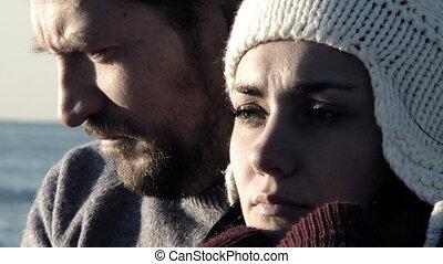 couple, souffrance, triste