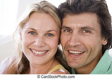 couple, sourire, ensemble