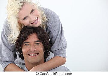 couple, sourire