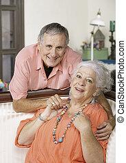 couple sourire senior