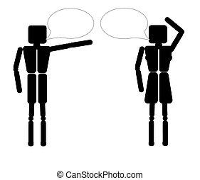 couple speaking