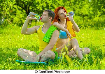 couple, sports, nature