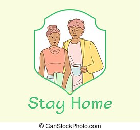 Couple stay home in self quarantine epidemic