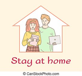 Couple stay home self isolation household chores