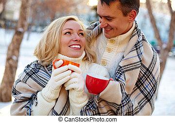 couple, tasses