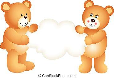 Couple teddy bears