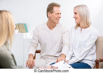 couple, thérapie, pendant, adulte, séance, psychologique