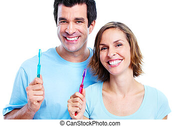 couple, toothbrush.