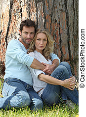 Couple under a tree