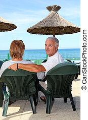couple, vacances, ensemble