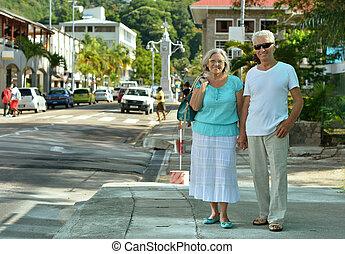couple, vacances, mûrir