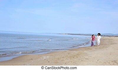 couple, vacances plage