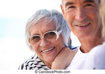 couple, vacances, plus vieux