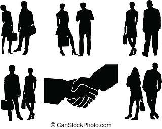 couple, vecteur, -, business