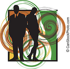 Couple. Vector Illustration
