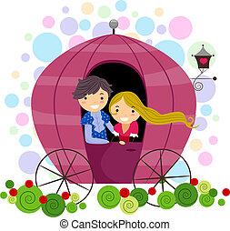 couple, voiture