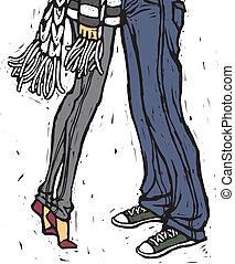 couple, vue