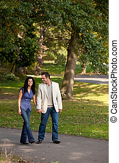 Couple Walk Park