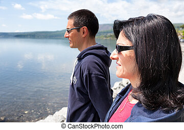 Couple Watching Lake