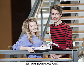 Couple with a binder
