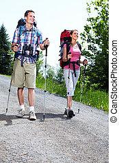 Hiking people