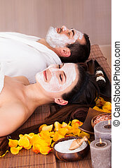 Couple With Face Mask