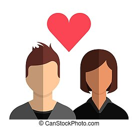 couple with love heart
