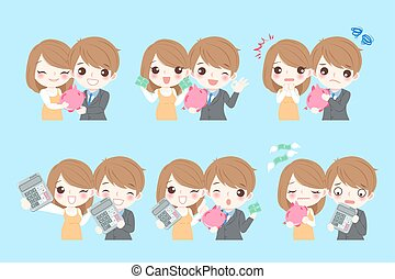 couple with money concept