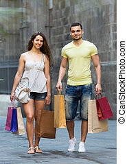 couple with purchases