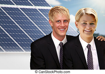 couple with solar
