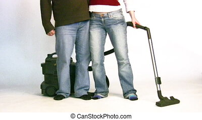 couple with vacuum cleaner 2 - Couple with vacuum cleaner 2