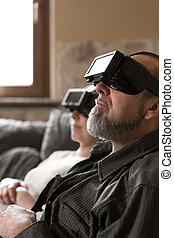 couple with vr glasses