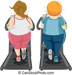 Couple Workout Threadmill