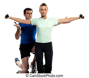 couple Worrkout Posture weight training