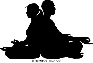 Couple yoga - Couple meditation