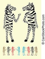 couple, zebra