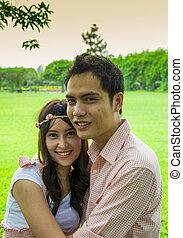 couples, étreinte, garden1, amant