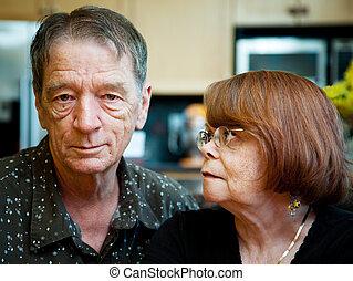couples aînés, chez soi