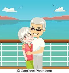 couples aînés, croisière