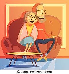 couples aînés, illustration
